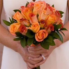 Bridal Bouquet Royal Orange & Terracota Roses