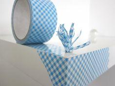 Large Decotape Check Pattern Blue - Stationery Heaven - http://www.stationeryheaven.nl/largeadhesivedecotape