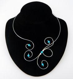Collier spirales et perles Anaïs