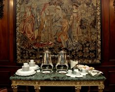 Tapestry at the Castle at BU, where we were married