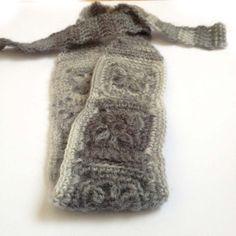 Crochet Headband, Boho Knit Hairband in Fuzzy Medium Gray Wool, Mohair Blend