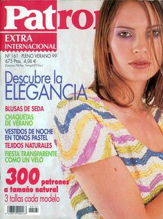 Jurnal: PATRONES № 161 (Extra internațional Pleno Verano 1999) - ac Girlfriend - lucrează mână - Publisher - LIFE LINE