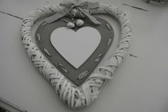 Large Wicker Heart - Divine Shabby Chic Hanging heart with natural heart inner   Gingham ribbon detail and silver ornate carved hearts added to bow  Measuring 25cm   Wonderful addition to the home  Ideal for weddings or just a simple gift for a loved one  Comes in gift wrap foil with gingham bow   Was £7.00 Now £5.25