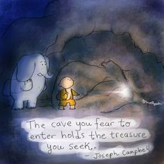 Buddha Doodles Art: Molly Hahn The cave you fear to enter holds the treasure you seek. Tiny Buddha, Little Buddha, Spiritual Awakening, Spiritual Quotes, Zen Quotes, Living Quotes, Yoga Quotes, Buddah Doodles, Buddha Thoughts