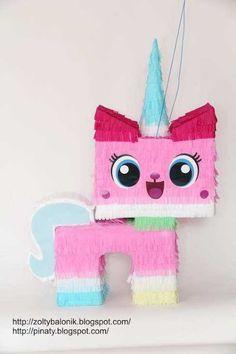 pinata Kicia Rożek unikitty Lego Friends Birthday, Lego Birthday, Unicorn Birthday, Girl Birthday, Girls Lego Party, Lego Girls, Cat Party, Unicorn Party, Birthday Decorations