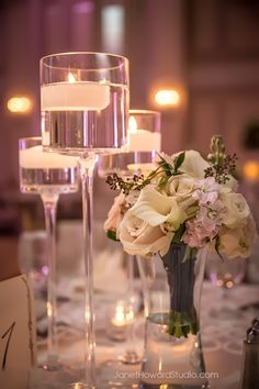 Light pink and white wedding reception decor at The Georgian Terrace by A Big To Do Event, florals by Tulip