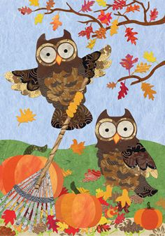 Custom Decor Flag Fall Owl Decorative Flag at Garden House Flags