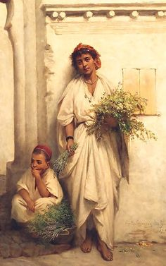 The Flower Seller by Jean-Raymond Hippolyte Lazerges