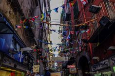 Calles del Barrio Español de Nápoles