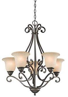 Kichler - - Camerena - Five Light Chandelier - Olde Bronze 5 Light Chandelier, Rectangle Chandelier, Empire Chandelier, Wagon Wheel Chandelier, Bronze Chandelier, Chandelier Shades, Chandeliers, Bronze Pendant, Bronze Finish
