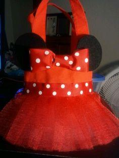 Minnie Mouse favor bag