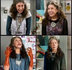 Lily Tomlin is amazing in grace and frankie! And where do I find this jewelry???