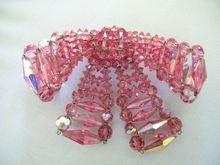 #2724 Huge Pink Crystal Vendome Bow $165  at Lee Caplan Vintage Collection on RubyLane