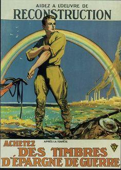 Affiche pour inciter à l'achat des timbres d'épargne de guerre 1919