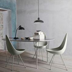 Fritz Hansen Drop Chair stoel | Wat een droppie!