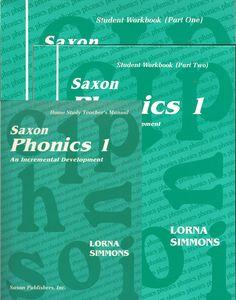 Saxon Phonics 1 Teacher Student Item #: SXPHHOMEKIT Retail Price: $80.00 Our Price: $60.00      Saxon Phonics Home Study Kit includes Teacher Manual (ISN # 1565771753) and Student Workbooks Part 1 & 2(ISBN# 0939798727)