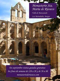 Visitas guiadas gratuitas al Monasterio de Rioseco. Septiembre fines de semana, Horario de 12h a 2h y de 5h a 8h. Notre Dame, Taj Mahal, Culture, Building, Travel, Schedule, September, Viajes, Buildings