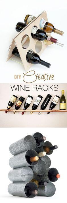DIY Creative Wine Racks • Ideas & Tutorials!