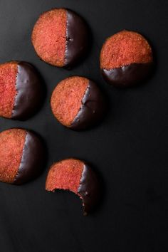 Chocolate-Covered Strawberry Shortbreads
