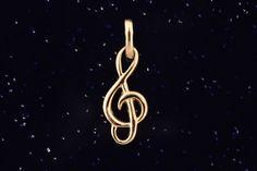Zlatý přívěsek houslový klíč P030 0,60g Accessories, Jewelry, Wire, Stud Earrings, Jewels, Jewlery, Jewerly, Schmuck, Jewelery