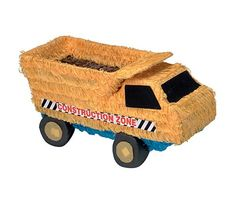 """This truck is TUFF. This Tuff Truck Pinata is perfect for any fan of construction equipment or heavy machinery. The pinata is yellow and has the words """"CONSTRUCTION ZONE"""" printed on the side. Great for a boy's birthday. Construction Party Supplies, Construction Birthday Parties, Kids Construction, Birthday Supplies, Kids Party Supplies, Discount Party Supplies, Pinata Party, Party Accessories, Dump Truck"""