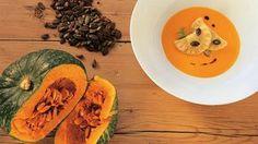 Kürbis-Rezepte: Kürbissuppe, Muskatkürbis mit Pasta und Kürbiskerneis