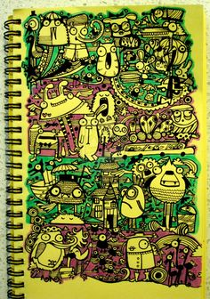 Doodle-4: Purple and green by ~dingbat23 on deviantART