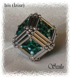 Beaded Bead cube PATTERN Isis Szilu