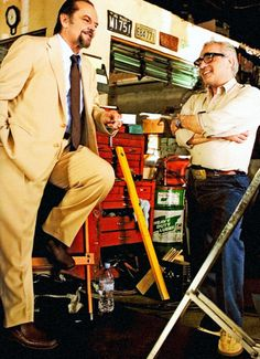 Martin Scorsese with Jack Nicholson on the set of The Departed.