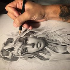 Creative Drawing - Creative Art / Funny Art ideas : Edgar Artis is an Armenian illustrator who uses a fascinating mix of paper cut outs and pencil drawings using everyday objects. This artist has a wonderful and Pencil Art, Pencil Drawings, Art Drawings, David Garcia Tattoo, Funny Drawings, Amazing Drawings, Realistic Drawings, Funny Art, Op Art