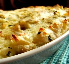 "Mashed Potato Cheese & Chive Gratin: ""Oh wow, this was outstanding! The mash was very creamy, with a lovely chive flavor, and the baking resulted in a very yummy crust."" -Lalaloula"