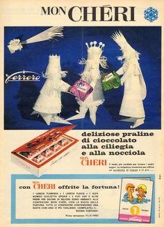 """GENERAZIONI e """"PICK-UP"""": (1962) pubblicità - FERRERO (Mon Chéri)"""