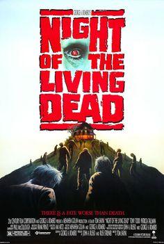 Cartaz de filme de zumbi - Night of the Living Dead