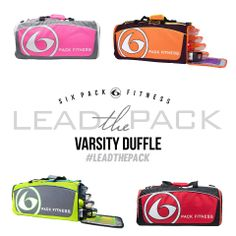 The Varsity Duffle is long on function and short on excuses. Meal, gear, uniform, shoes, shaker bottle, water bottle, keys, gloves, wraps, wallet, phone... YOUR FITNESS LIFE. It's all there.  Pre Order now at sixpackbags.com
