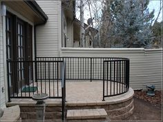 Curved Metal Deck Railings See 100s of Deck Railing Ideas http://awoodrailing.com/2014/11/16/100s-of-deck-railing-ideas-designs/