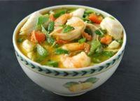 Coconut Curry Soup with Shrimp & Vegetables