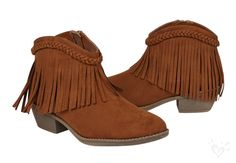 Fringe booties pair perfectly with jeans, shorts, skirts and dresses!