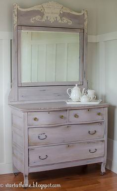 Start at Home blog...most beautiful painted furniture!  Where can I use this lavender?  I LOVE it!