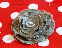 Scrap'ptiterima: tuto fleurs en tissu froissé