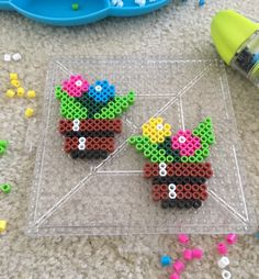 Discover recipes, home ideas, style inspiration and other ideas to try. Easy Perler Bead Patterns, Perler Bead Designs, Melty Bead Patterns, Perler Bead Templates, Hama Beads Design, Diy Perler Beads, Perler Bead Art, Pearler Beads, Fuse Beads