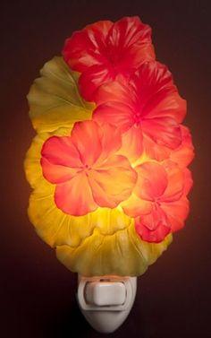 Red Geraniums Nightlight By Ibis & Orchid Design - Amazon.com