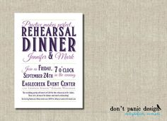Rehearsal Dinner Printable Invitation Practice by DontPanicDesign