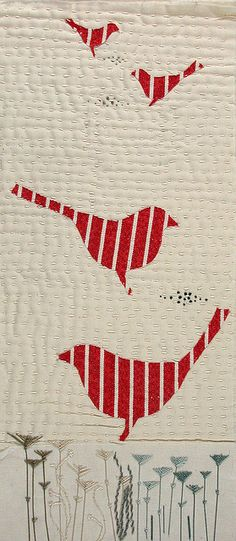 Red Birds by Jantze Tullett - Another cute tote bag idea