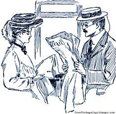 **FREE ViNTaGE DiGiTaL STaMPS**: Free Digital Stamp - Victorian Couple
