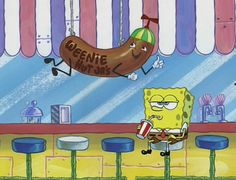 Sometimes you just gotta embrace your loser-ness and go sit inside Weenie Hut and sip your soda and ponder. Cute Disney Wallpaper, Wallpaper Iphone Cute, Cartoon Wallpaper, Cute Wallpapers, Spongebob Friends, Spongebob Pics, Cartoon Memes, Cartoon Pics, Cute Cartoon