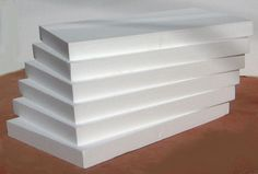 <p> <EOL> 6 sheets of smooth, rigid white EPS 2 x 14 x 22-inch foam for big projects. <b>NO AIR SHIPMENT OF FOAM!</b></p> <EOL>