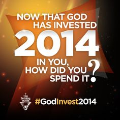 Use the hashtag #GodInvest2014 on Twitter and Instagram and let us know