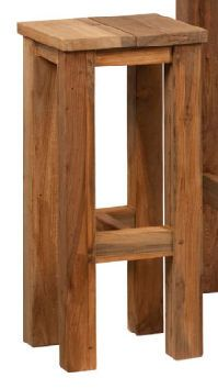 tabouret de bar de jardin contemporain en bois certifié (Eco-label FSC) HAANS LIFESTYLE