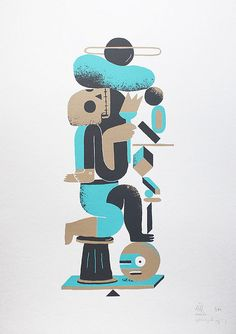 TOTEM screenprint by neli0, via Flickr