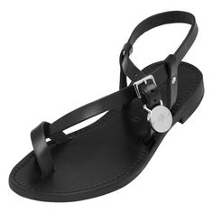 Mulberry - Bayswater Flat Sandal in Black-Nickel Dip Dyed Leather